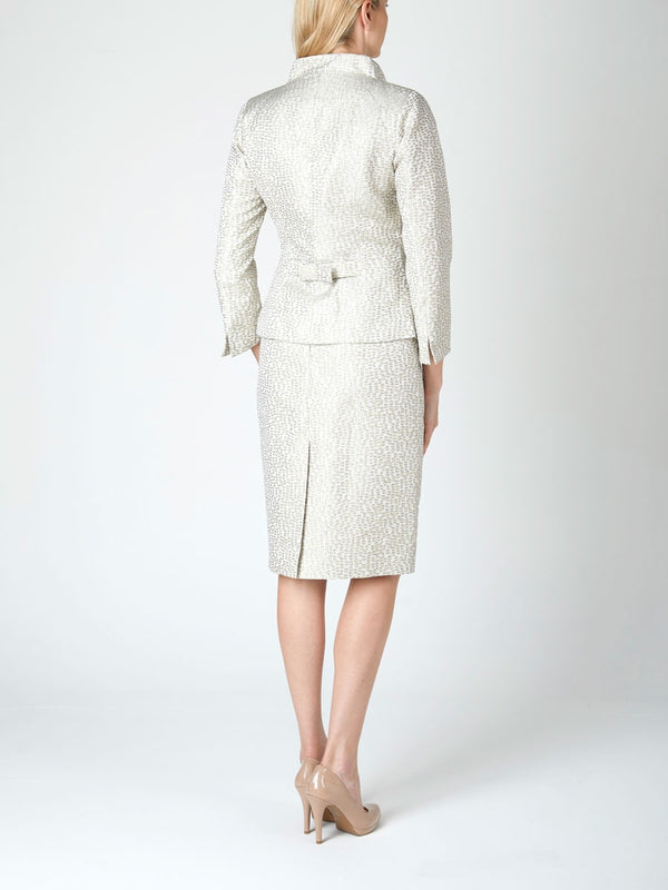 Cassandra Jacket Grey Pearl Solitaire Jacquard