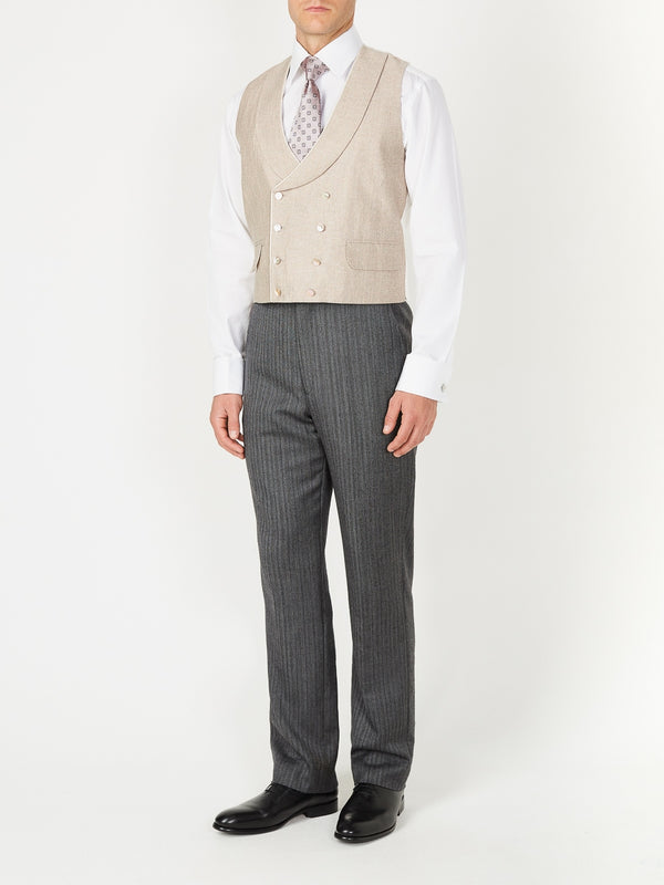 Dusk Halton Silk Double Breasted 8 Button Shawl Lapel Piped Waistcoat