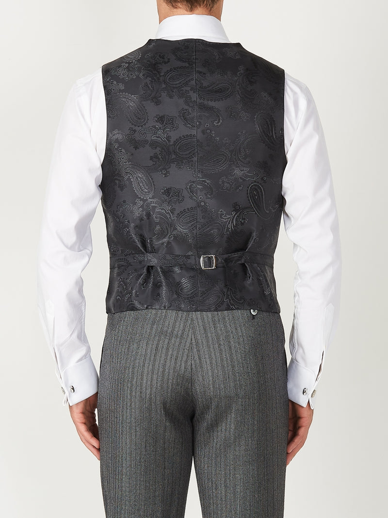 Navy Belvoir Cotton Single Breasted 6 Button Waistcoat