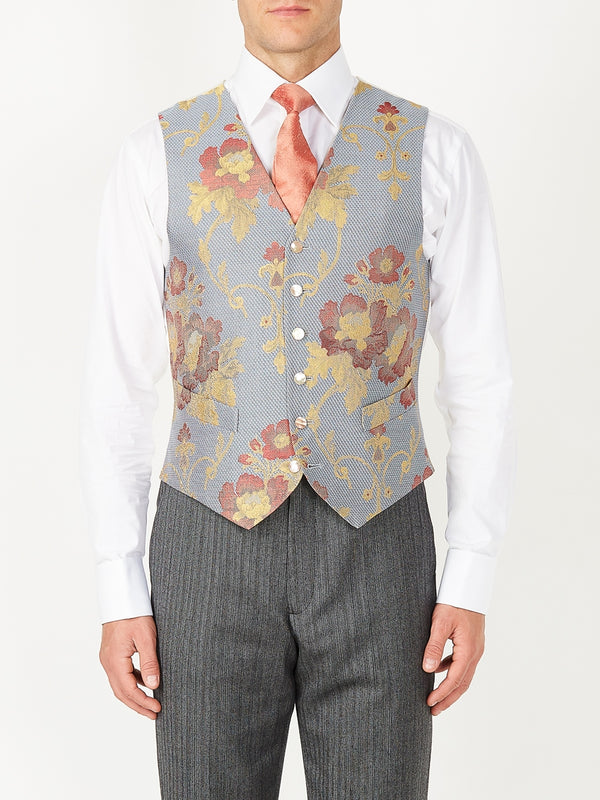 Sky Belvoir Cotton Single Breasted 6 Button Waistcoat