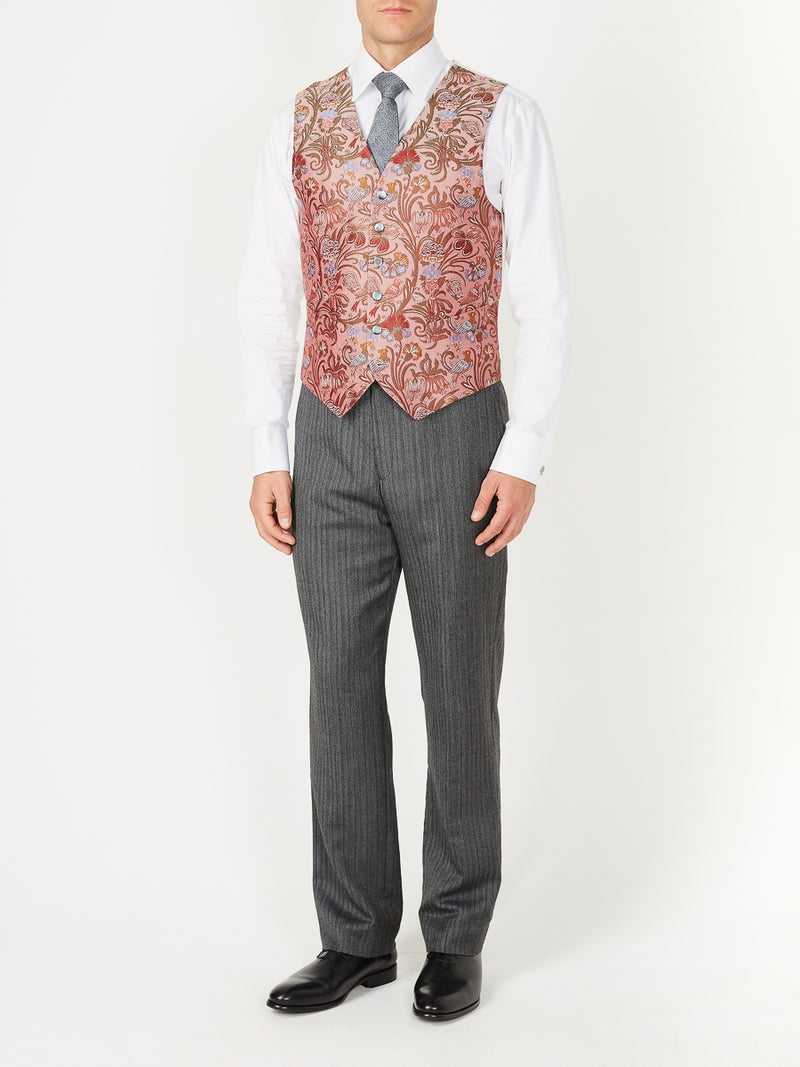 Rose Davenport Silk Single Breasted 6 Button Waistcoat