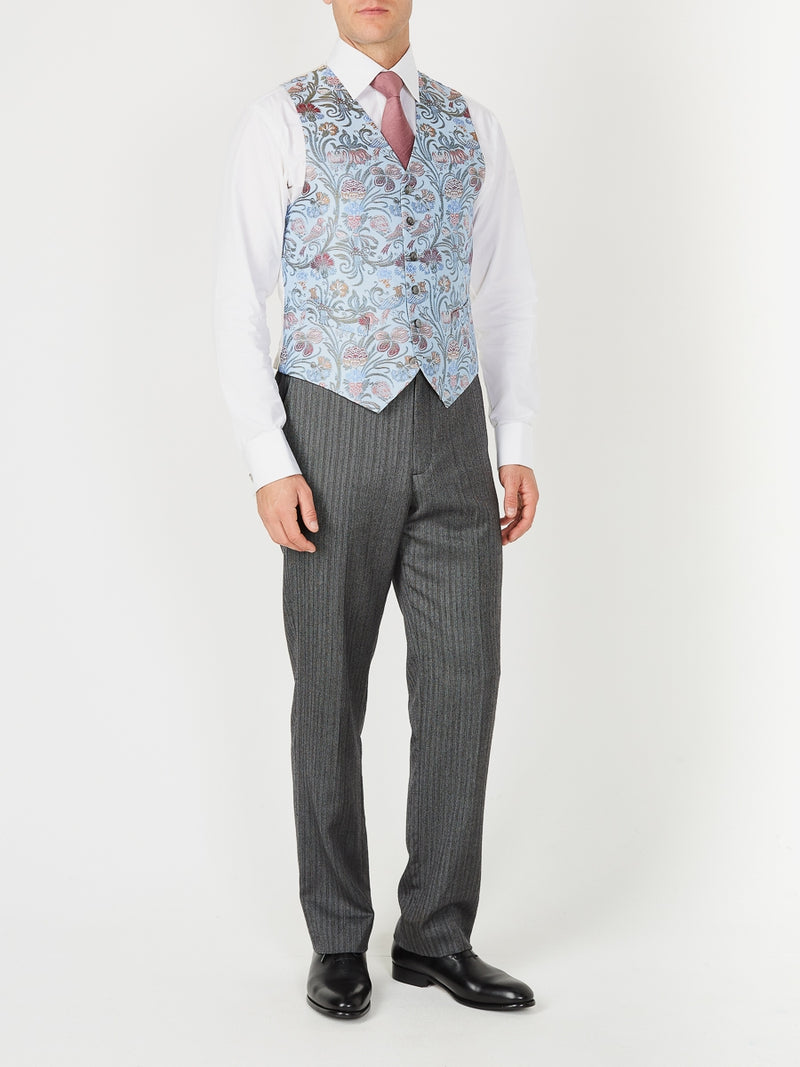 Sky Davenport Silk Single Breasted 6 Button Waistcoat