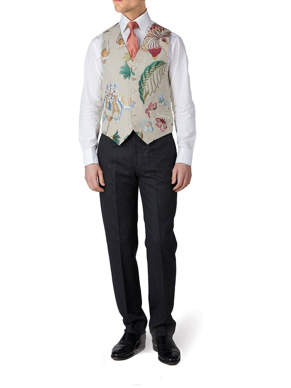 Stone Petersham Single Breasted 6 Button Waistcoat