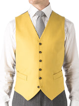 Butterscotch Wool Single Breasted 6 Button Waistcoat