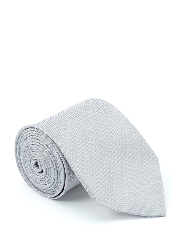 Windsor Silver Silk Tie