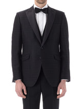 Black Audley Silk / Wool Dinner Jacket