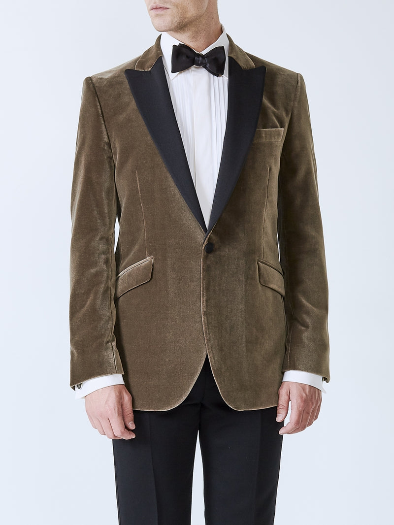 Fawn Velvet Cotton Dinner Jacket