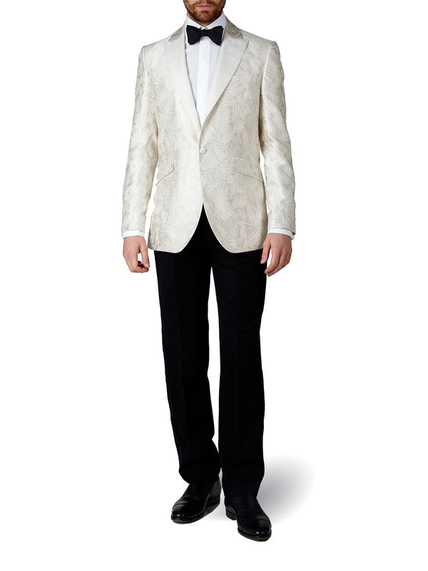Ivory Botanics Silk Dinner Jacket