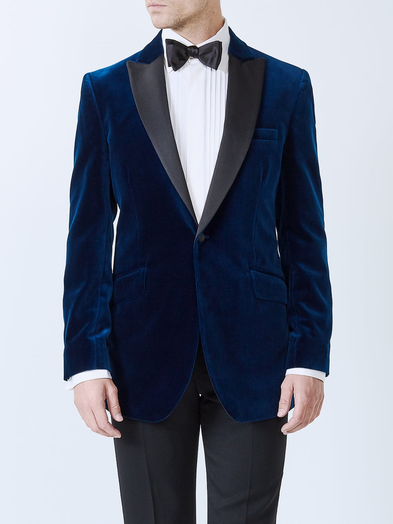 Marine Velvet Cotton Dinner Jacket