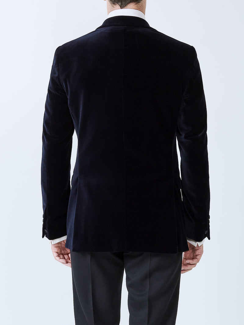 Navy velvet Cotton Dinner Jacket