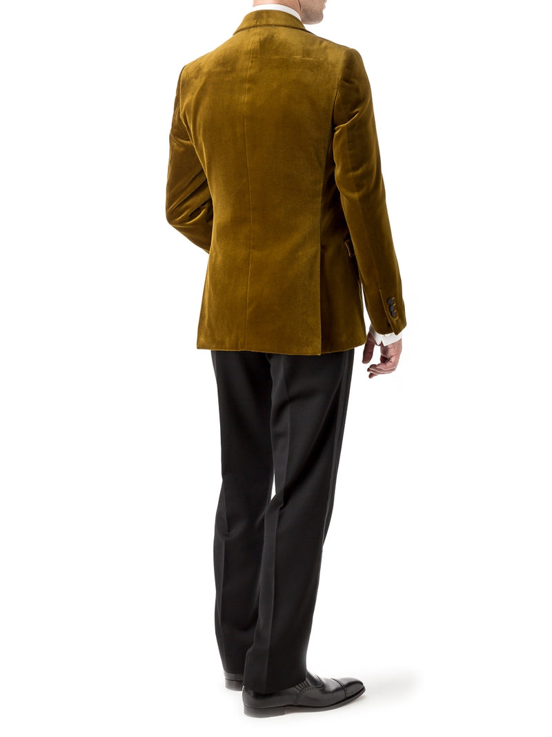Ochre Velvet Cotton Dinner Jacket