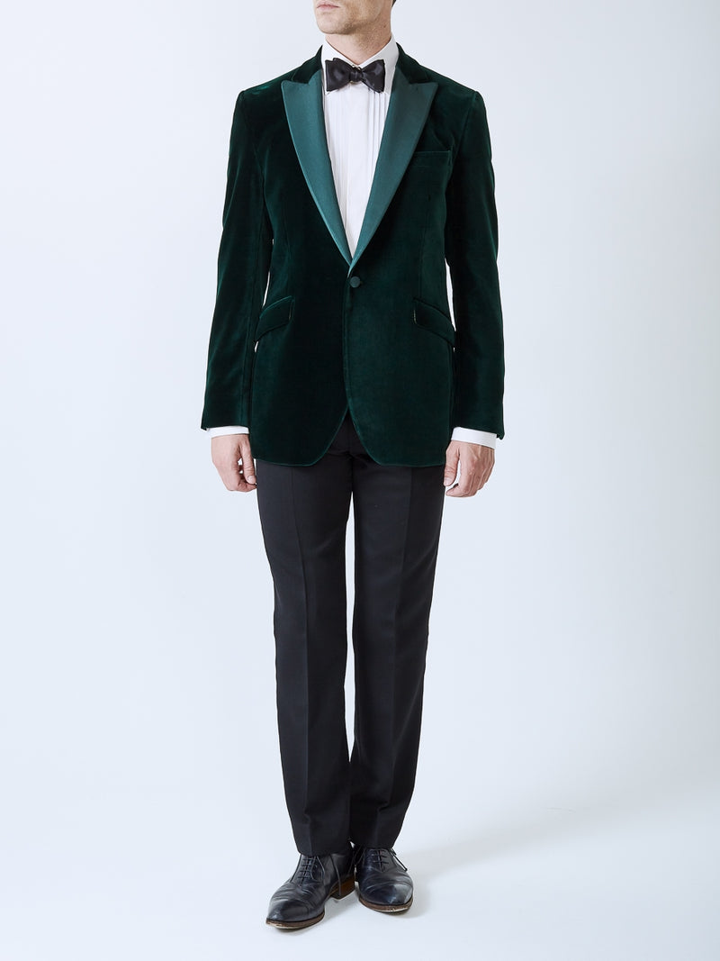 Racing Green Velvet Cotton Dinner Jacket
