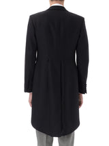 Black Seaton Cashmere Wool Morning Coat