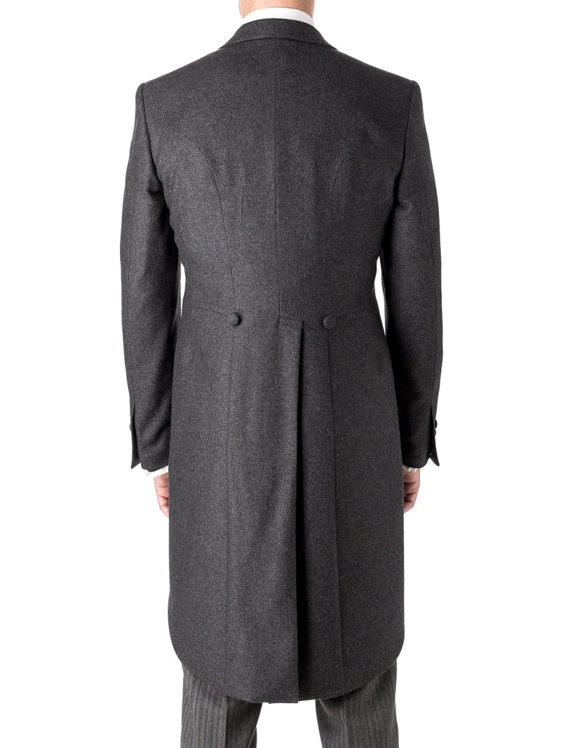 Charcoal Shaftesbury Cashmere Wool Morning Coat