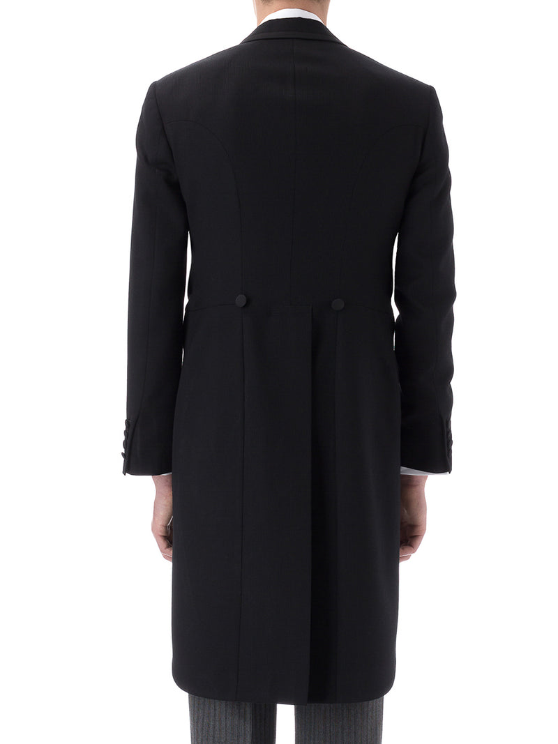 Black Bedford Cord Wool Morning Coat