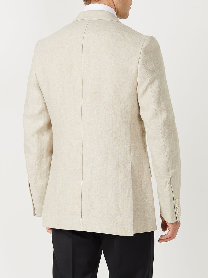 Stone Evering Linen Double Breasted Jacket