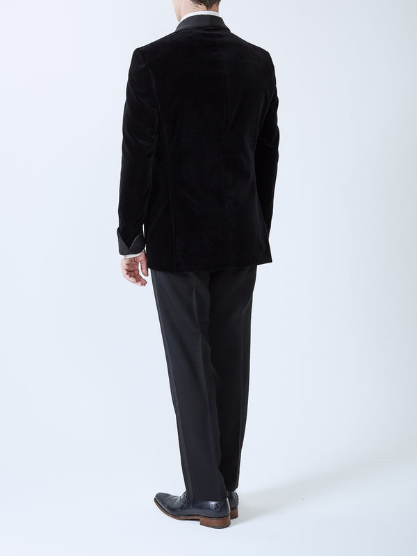 Black Velvet Cotton Chaucer Jacket
