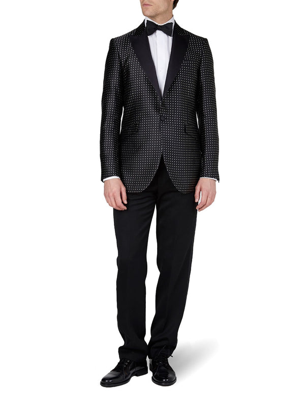 Black Pickwick Silk Dinner Jacket