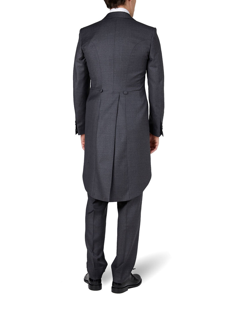 Charcoal Wellington Merino Wool Morning Coat