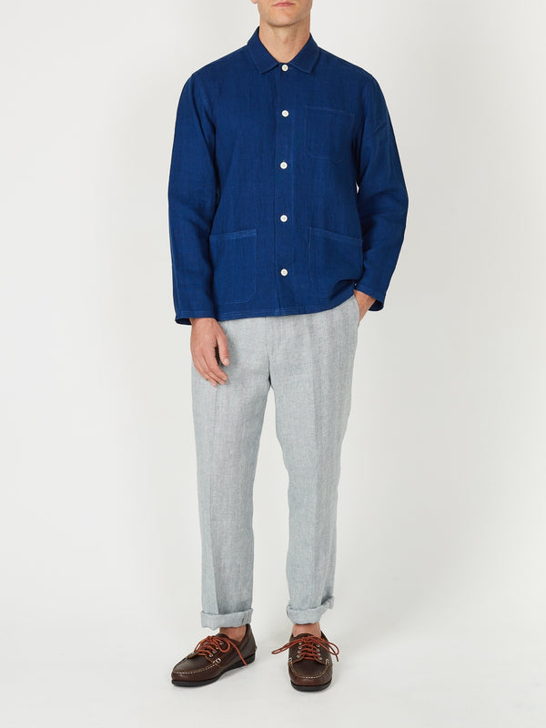 Cobalt Evering Linen Safari Shirt