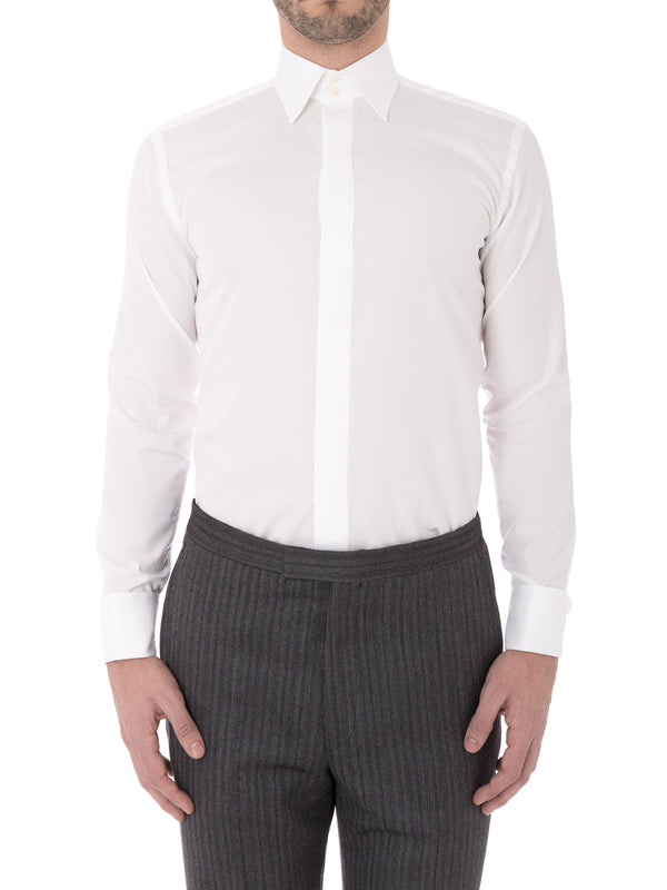 White Poplin Cotton Gatsby Shirt