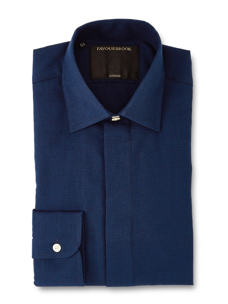 Indigo Cotton Ivy Shirt