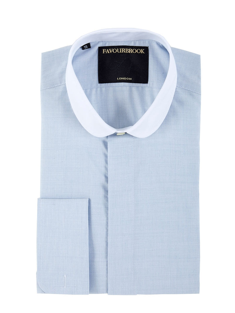 Blue Kent Cotton Kent Double Cuff Shirt