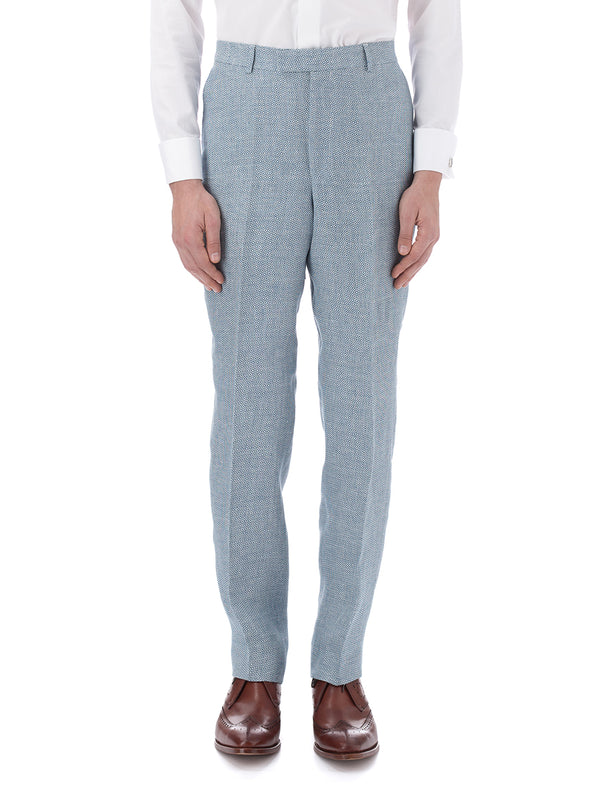 Blue Culcross Linen Windsor Trouser