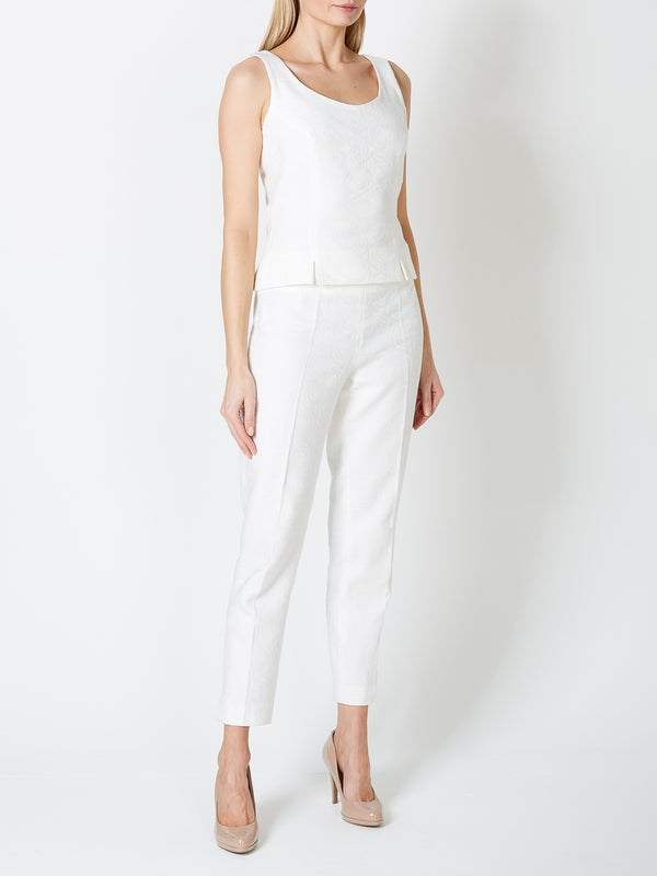 Cigarette Trousers Ivory Spence Linen