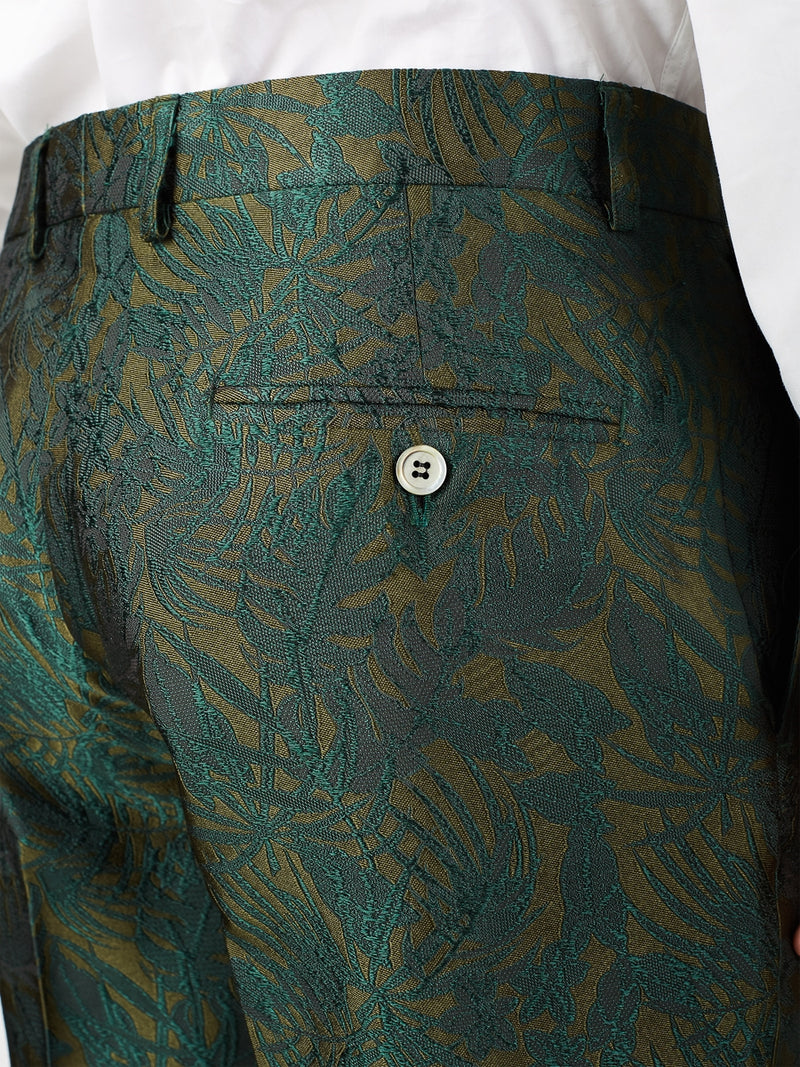 Olive Botanics Silk Windsor Trouser