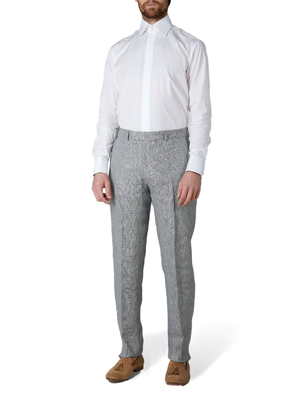 Charcoal Culcross Linen Windsor Trouser