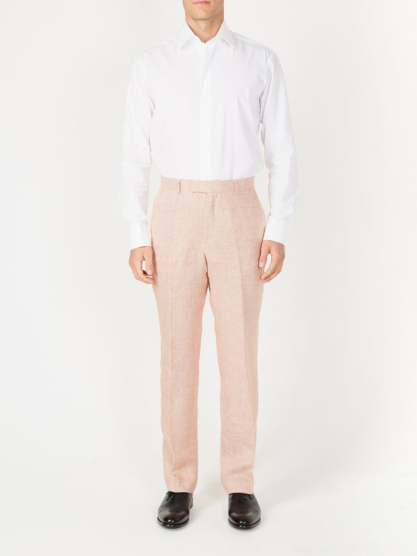 Coral Culcross Linen Windsor Trouser
