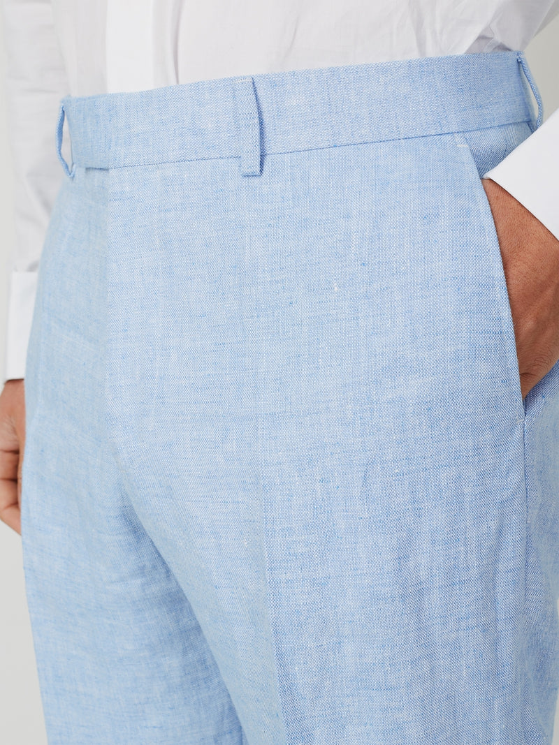 Sky Evering Linen Windsor Trouser