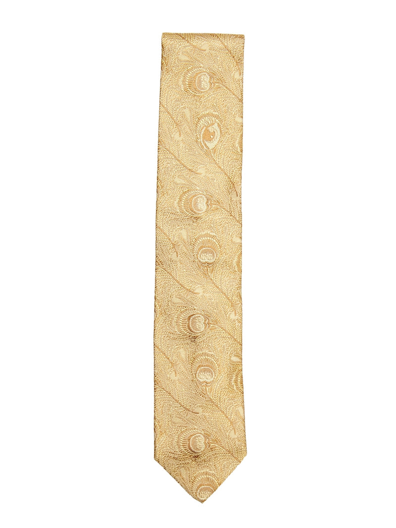 Gold Peacock Tie