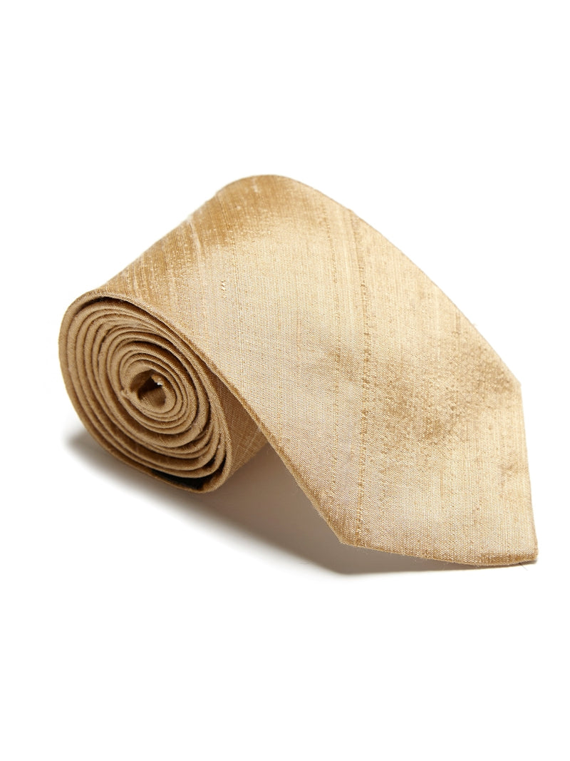 Gold Douppion Silk Tie