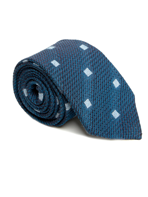 Teal Ludwell Silk/ Linen Tie