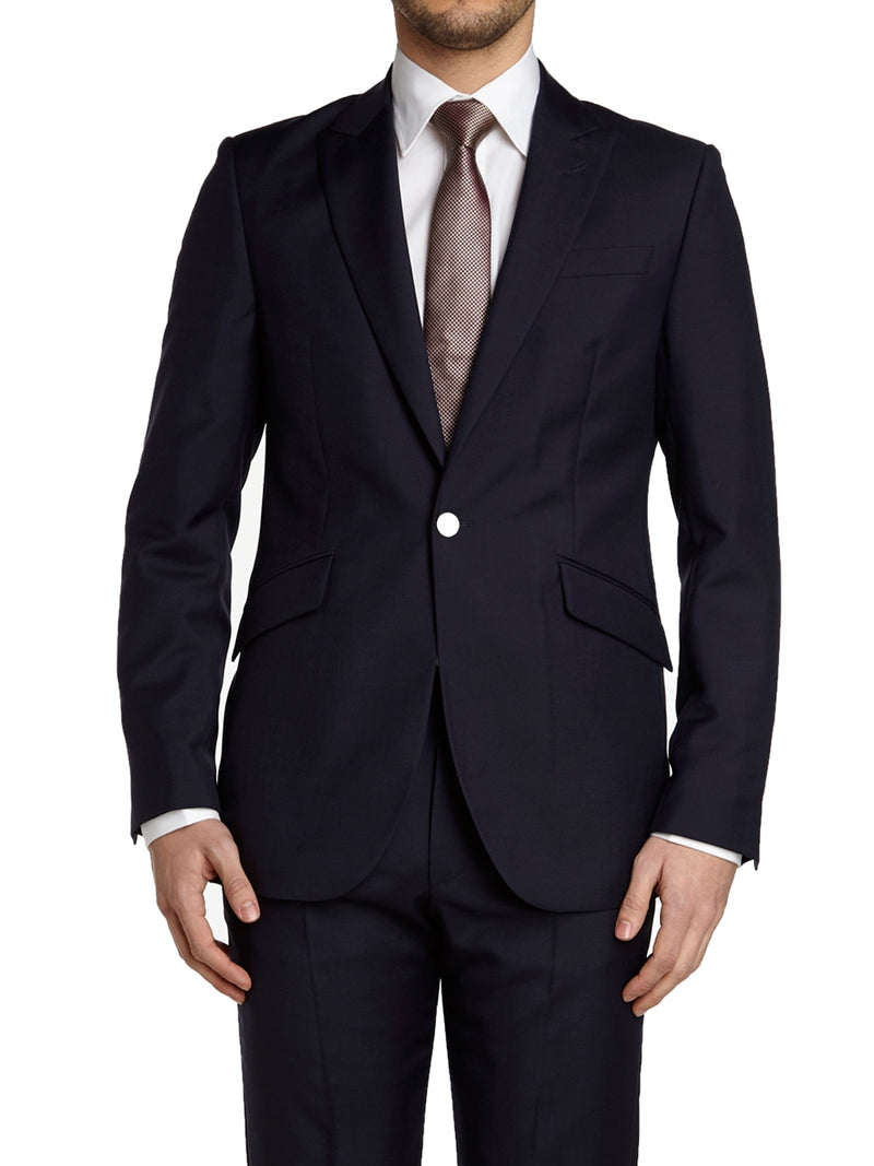 Navy Tonic Mohair Wool Newport Jacket