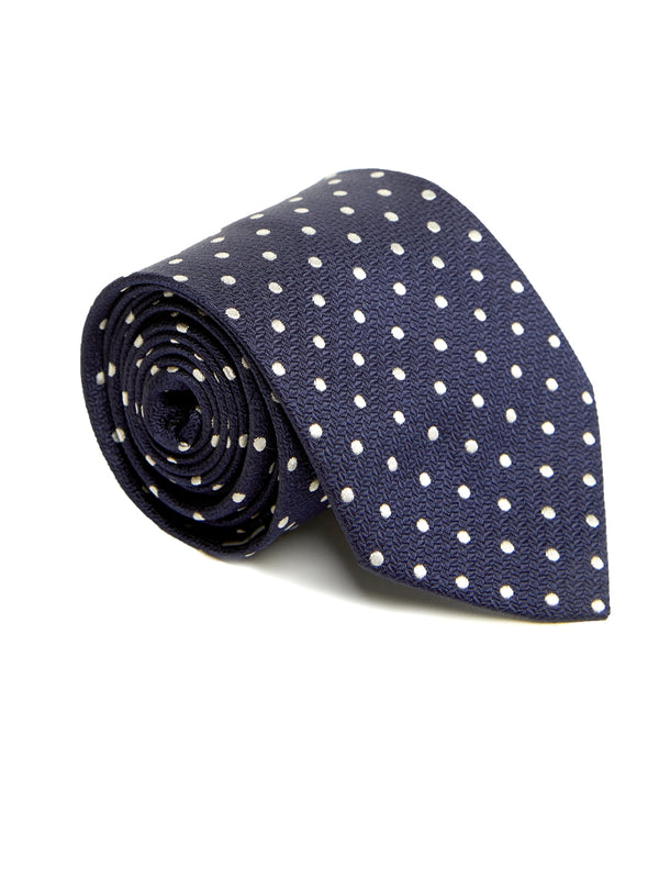 Navy Pickwick Silk Tie