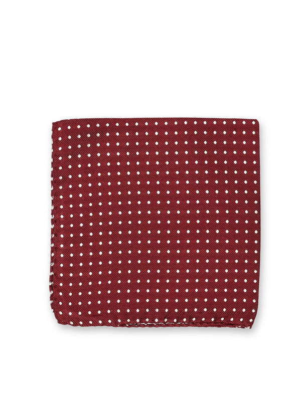 Albany Burgundy Silk Pocket Square