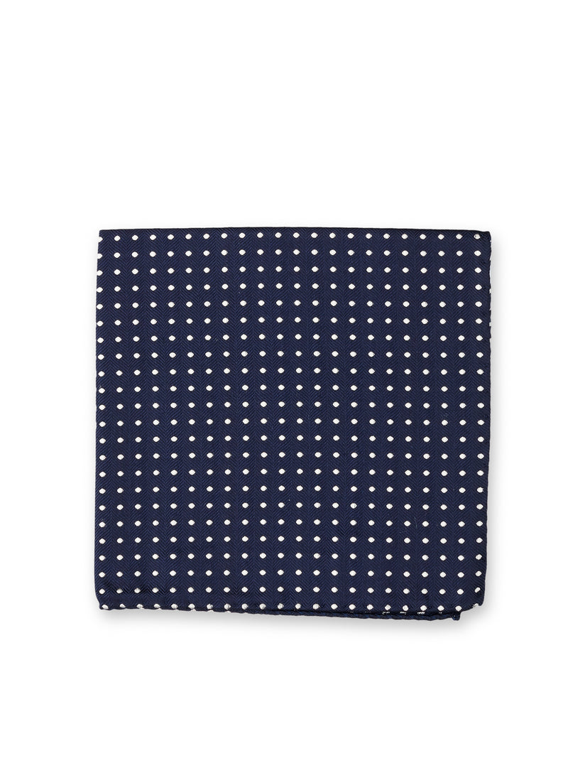 Albany Midnight Silk Pocket Square