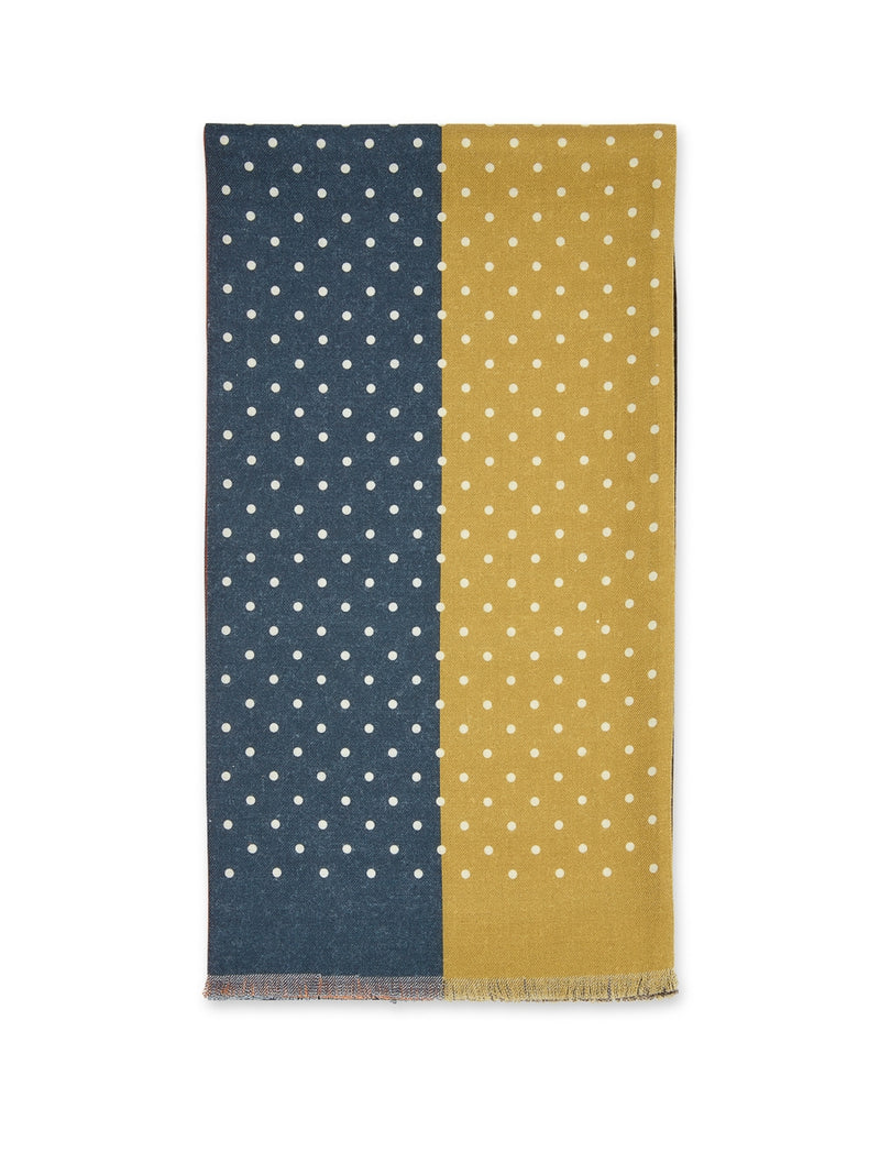 Multi 4-Way Spot Wool Scarf