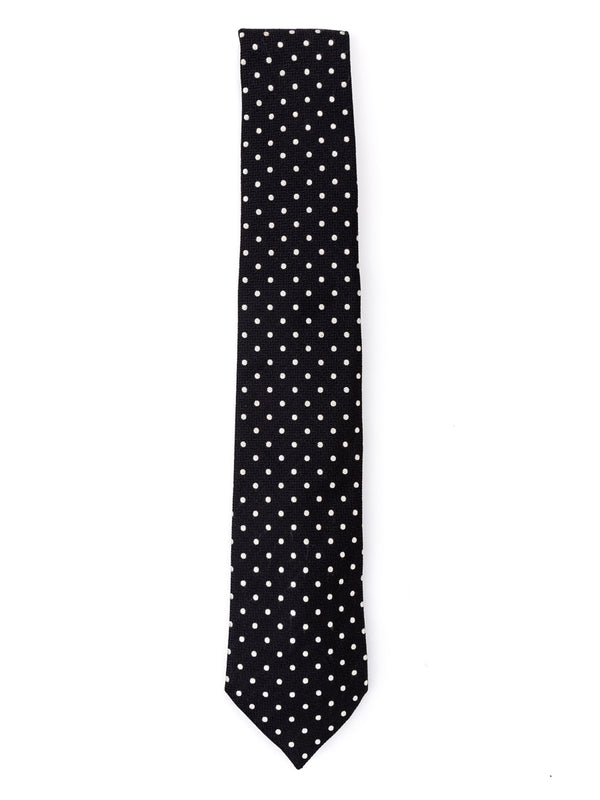 Black Pickwick Silk Tie