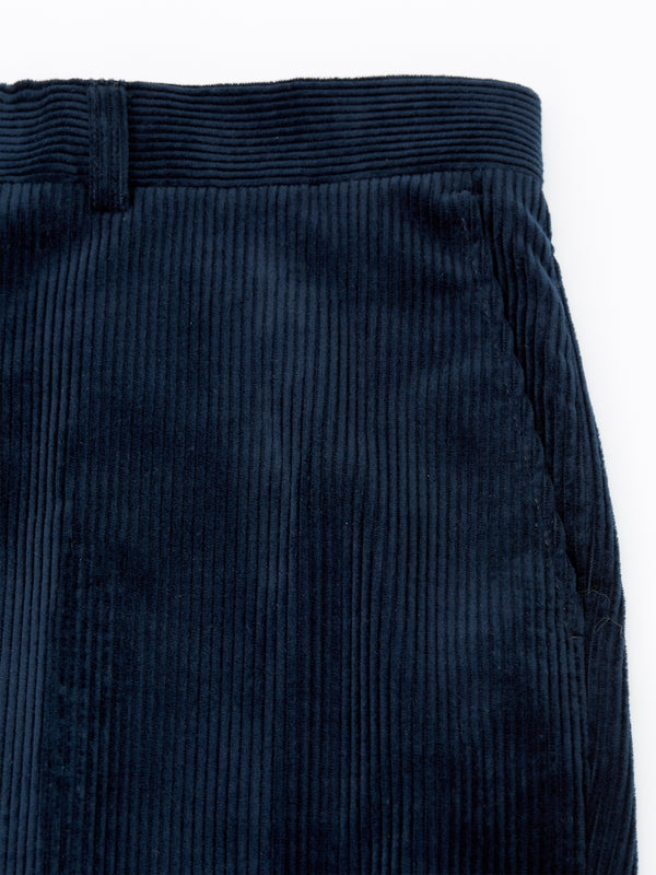 Navy Penton Cord Cotton Windsor Trouser