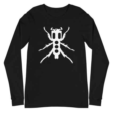 New Beedle Long Sleeve Shirt (White Print)