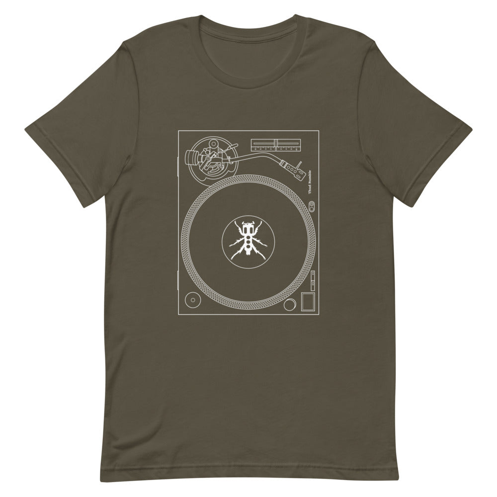 Turntable Men's T-Shirt (White Print)