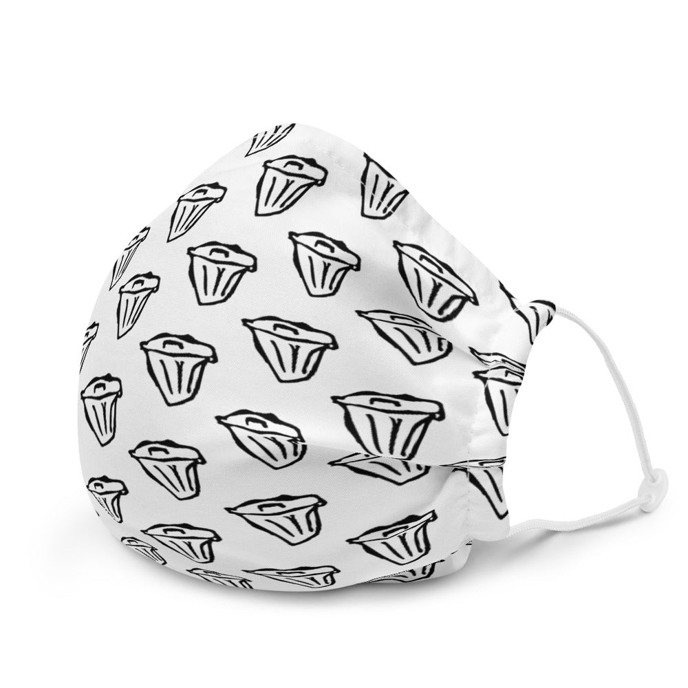 Dirtstyle Pattern Face Mask (White)