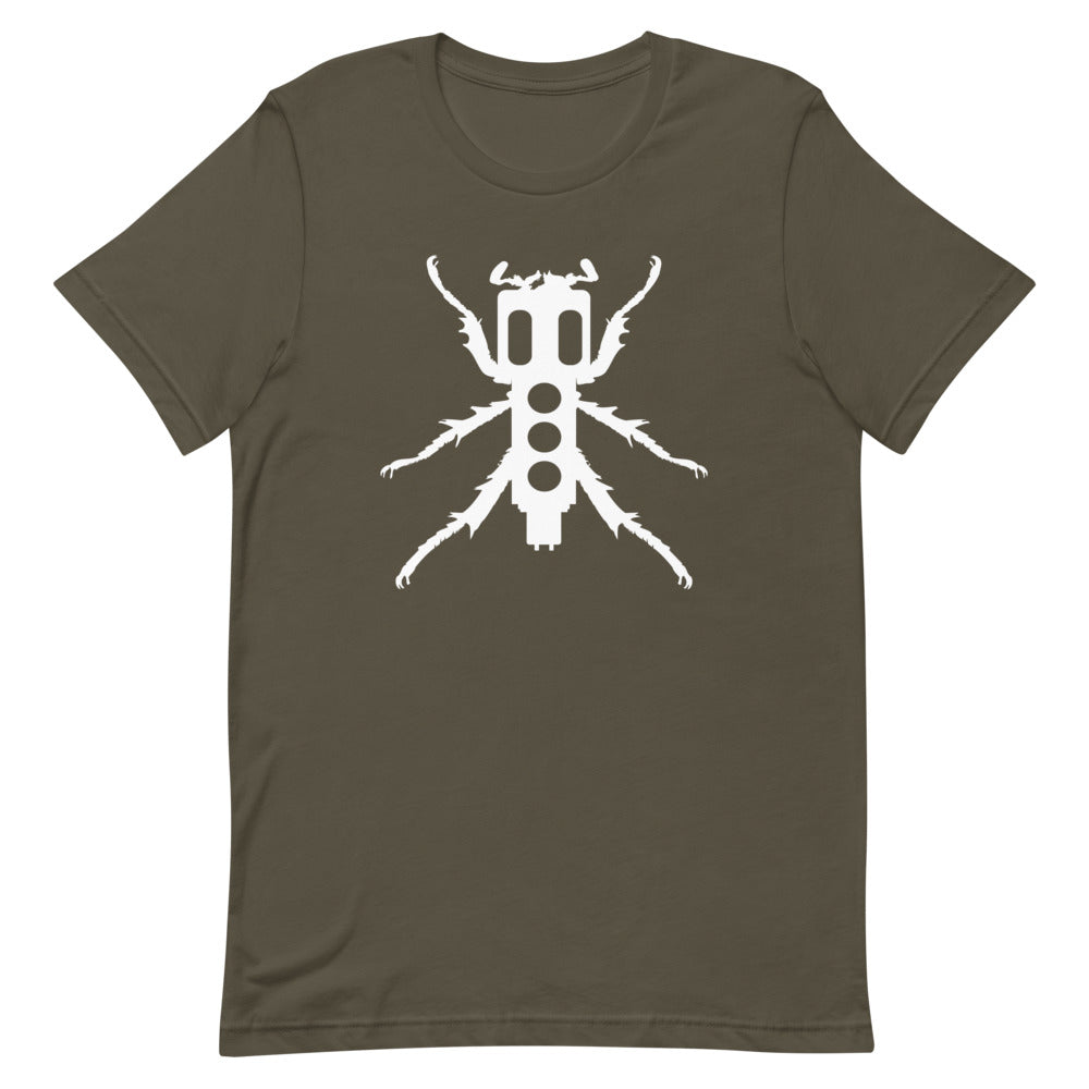 New Beedle Men's T-Shirt (White Print)