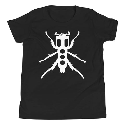 New Beedle Youth T-Shirt (White Print)