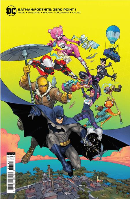 BATMAN FORTNITE ZERO POINT #1 KENNETH ROCAFORT CARD STOCK VAR (4/20/2021 )