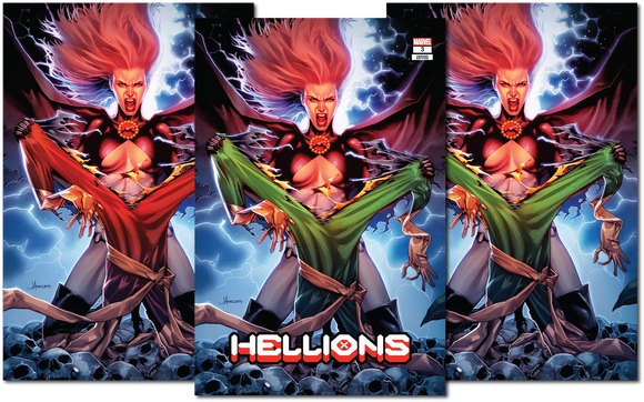 HELLIONS #3 JAY ANACLETO 3-PACK EXCLUSIVE SET BACKISSUE